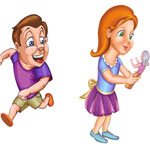 2D cartoon and semi-realistic illustration, 2D artist in kolkata, 2D illustration for rhymes and story books, 2D illustration for children books
